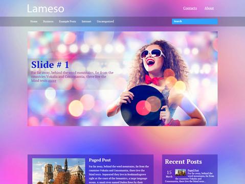 WordPress  Mobil Uyumlu (Smthemes) Lameso Responsive Tema