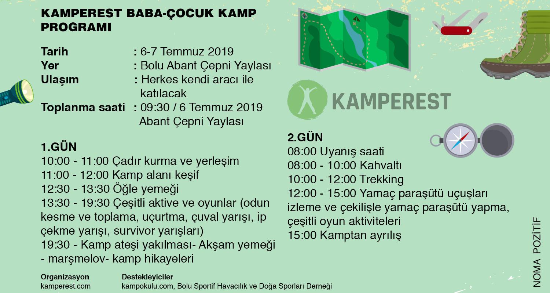 Kamperest Baba-Çocuk Kampı Etkinlik Programı
