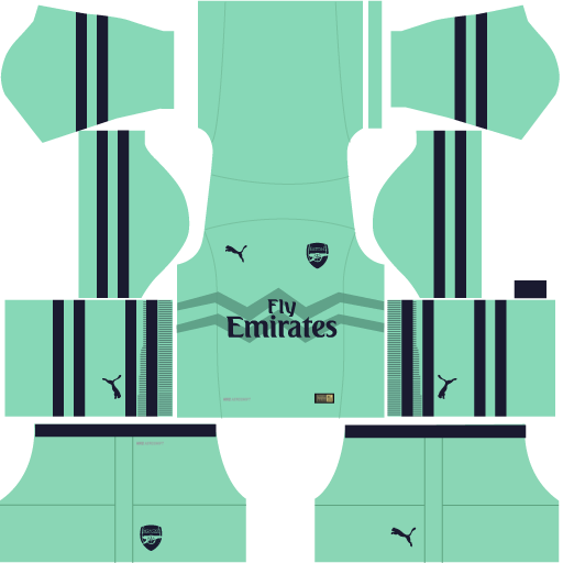 sports shoes fc450 f18ee Arsenal - 2018/2019 Dream League Soccer DLS/FTS 19 Kits and Logo