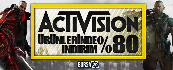 Activision Ürünlerinde %80' e Varan İndirimler !