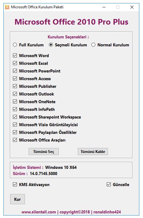 Microsoft Office 2010 Pro Plus Sp2 VL TR | Şubat 2020 | Katılımsız cover