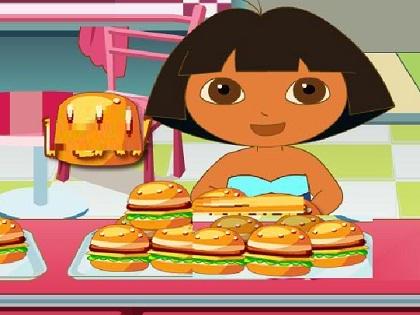 Hamburgerci Dora Oyunu