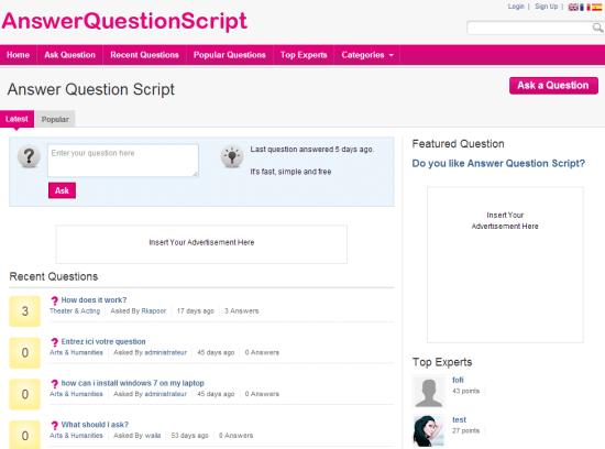 soru cevap php script