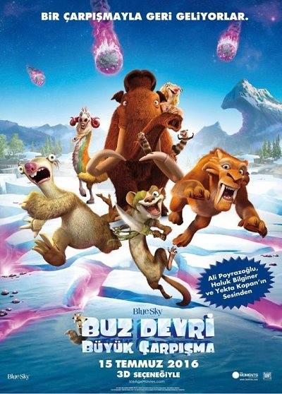 Buz Devri 5: Büyük Çarpışma – Ice Age: Collision Course 2016 BluRay DuaL TR-EN | Türkçe Dublaj - Tek Link indir
