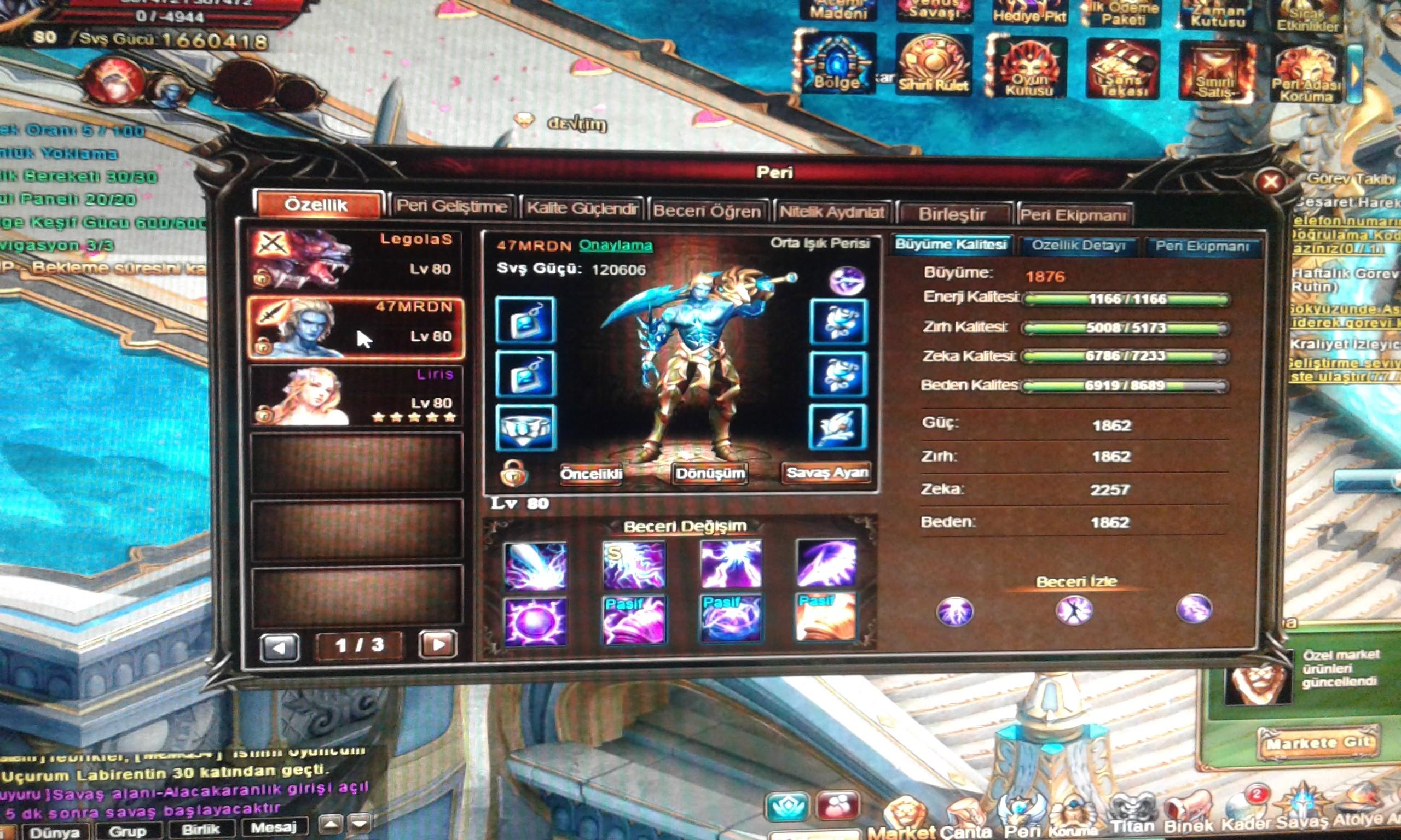 Legend Online II 1,5m sg üstü çar SATILIK
