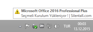 Microsoft Office 2016 Pro Plus VL TR | Temmuz 2018 | Katılımsız