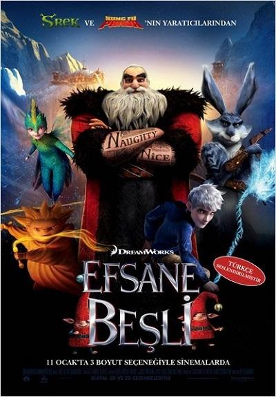 Efsane Beşli -  Rise of the Guardians 2012   M1080p Bluray x264 Türkçe Dublaj - Tek Link