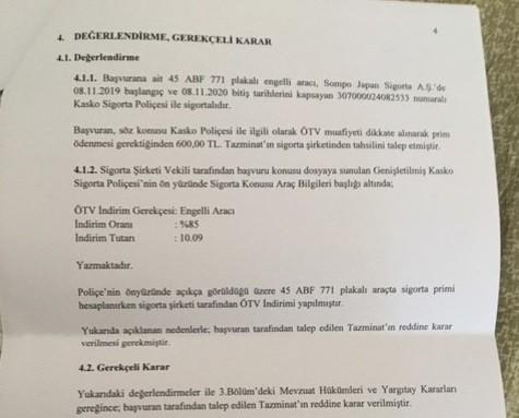 5q9p8j - Engelli statüsünde ÖTV'siz alınan araçlarda Kasko uygulaması hakkında tecrübeleriniz?
