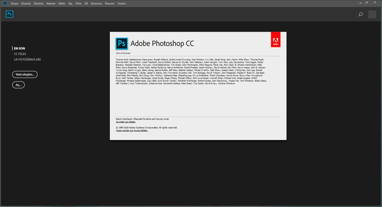 Adobe Photoshop CC 2018 19.1.6 | Katılımsız