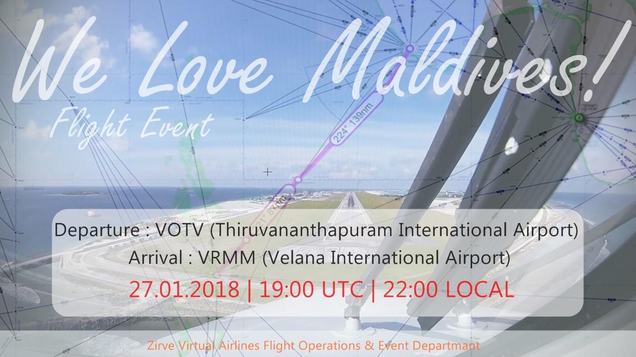 We Love Maldives! Flight Event