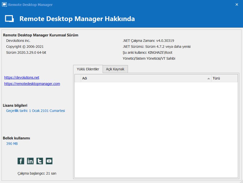 Remote Desktop Manager Enterprise 2021.1.26.0 | Katılımsız