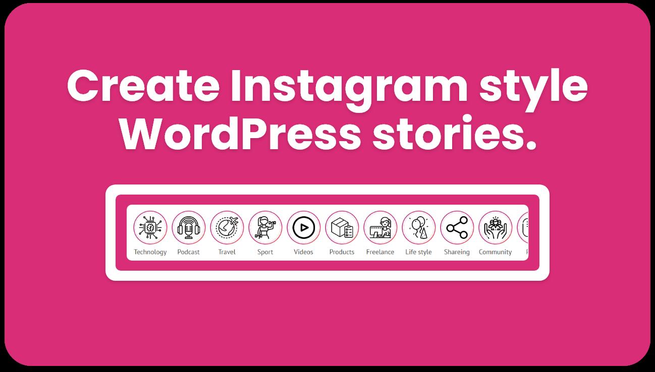 WordPress instagram style stories plugin - 1