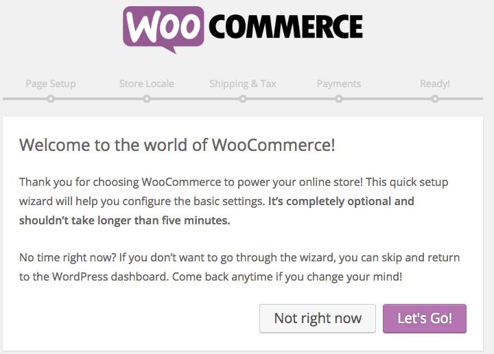 WooCommerce sihirbazı