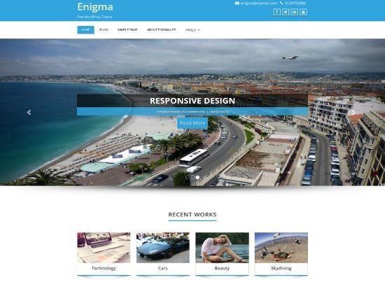 Enigma multipurpose responsive free WordPress Theme