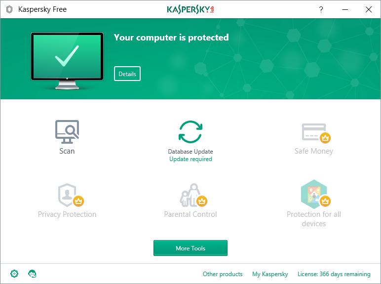 Kaspersky Free Antivirus 18.0.0.405 | Katılımsız