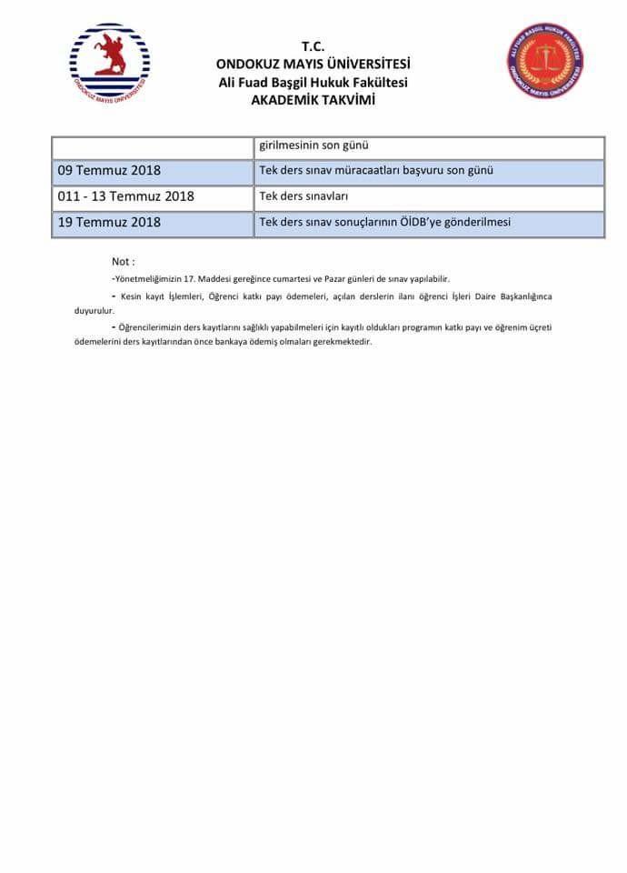 2017-2018 Akademik Takvimleri 4. resim