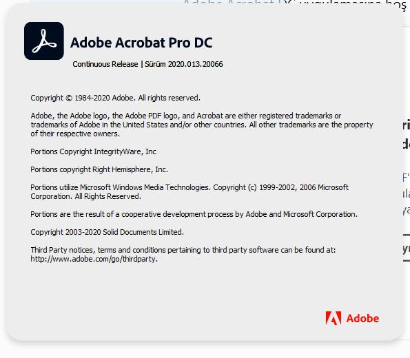 Adobe Acrobat Pro DC 2020.013.20074 | Katılımsız