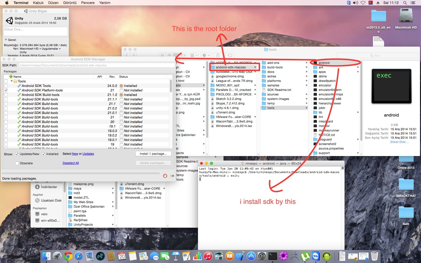 Mac OSX Yosemite issue ? Cannot locate Android SDK root folder