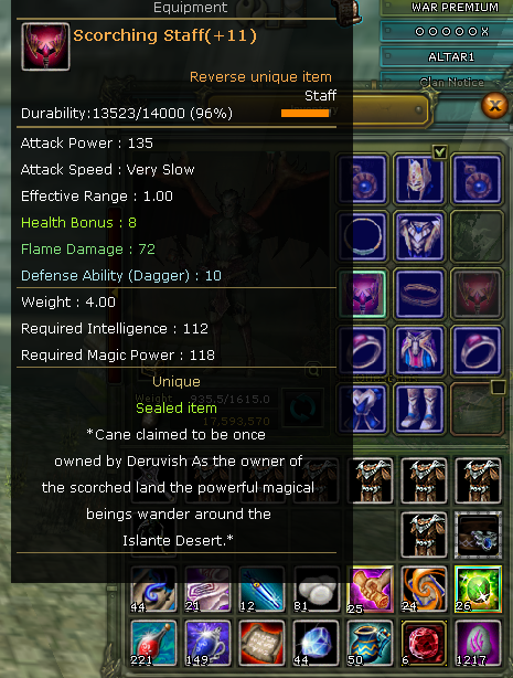 SELL 83/4 %83  100 DEF 4M 250K NP  51 LUNAR WIN KARUS MAGE SATILIK