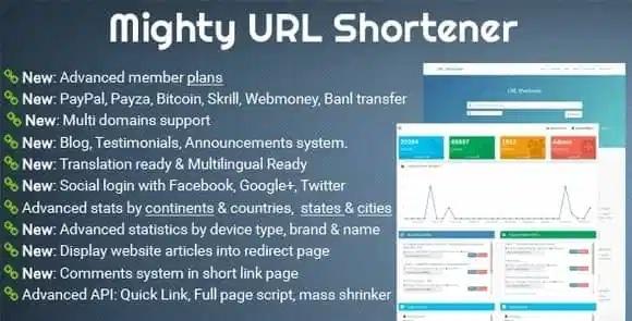 Mighty URL Shortener v3.5.0 - Short URL Script Nulled