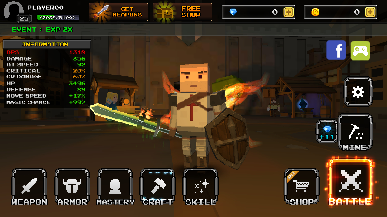 Pixel F Blade - 3D Fantasy rpg Apk İndir