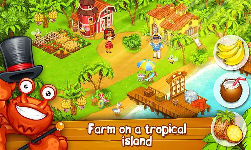 Farm Paradise: Hay Island Bay Apk