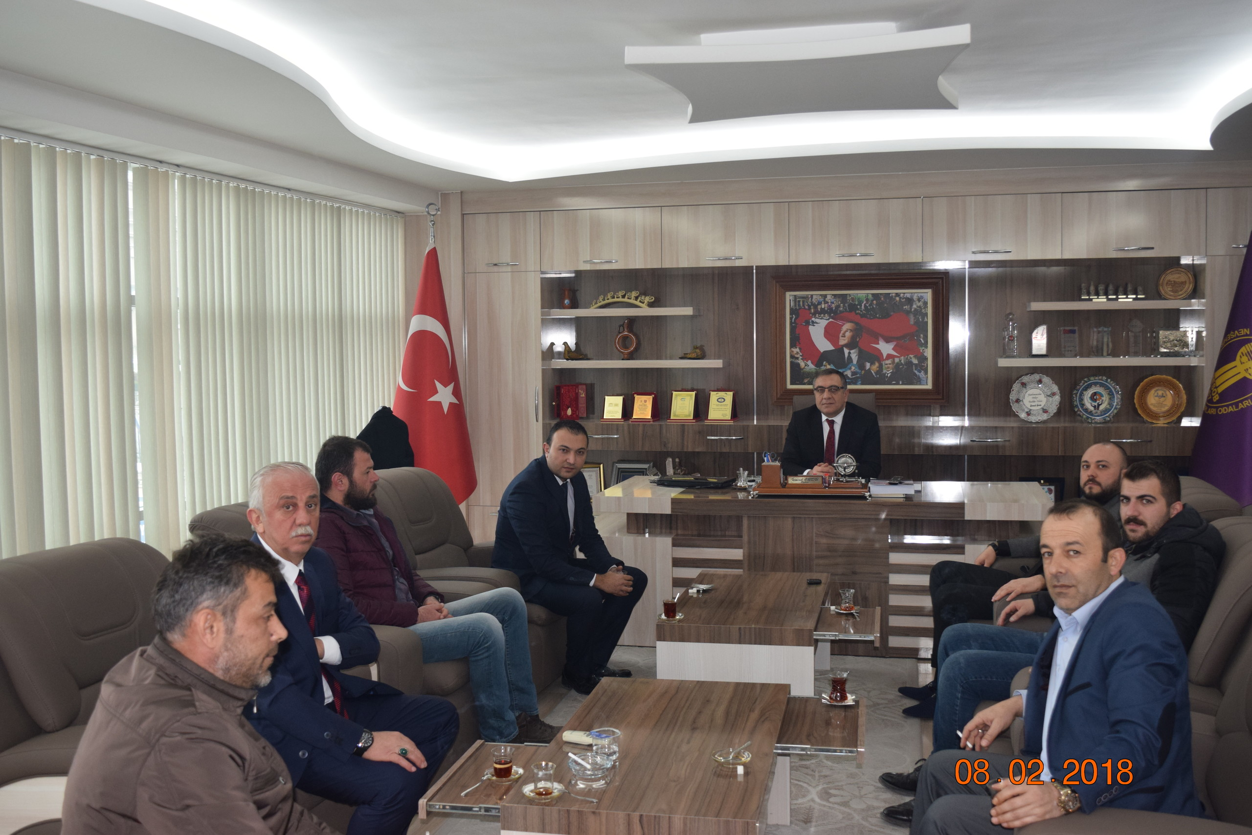 Ülkü Ocakları İl Başkanı TÜRKER Birlik Başkanımızı Ziyaret Etti