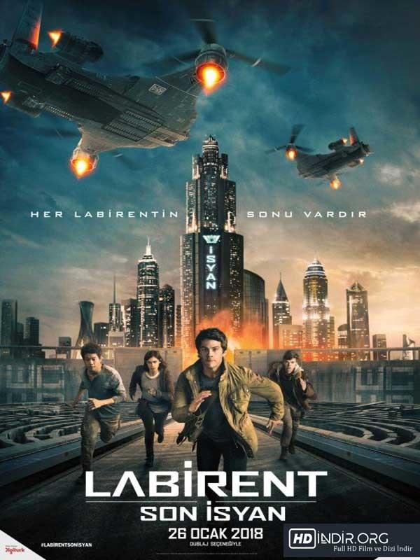 Labirent: Son İsyan (2018) Türkçe Dublaj HD Film indir