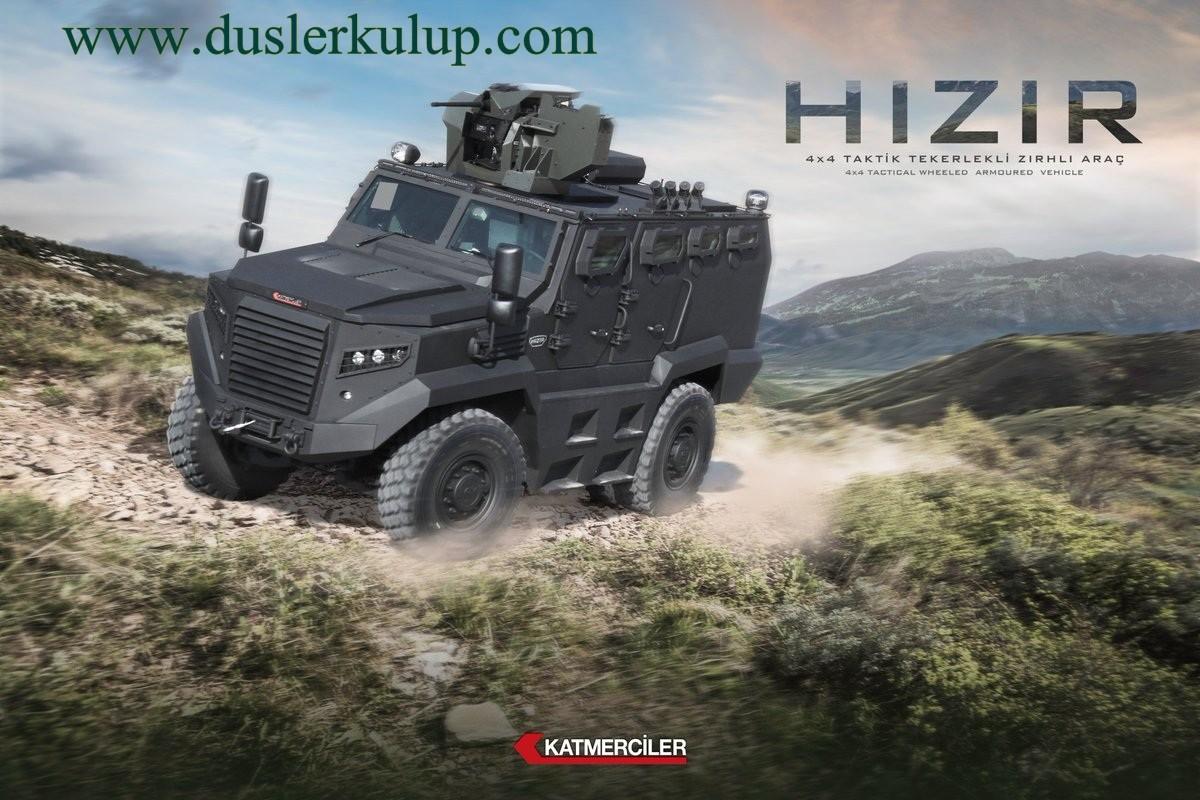 Hızır 4×4 Taktik Tekerlekli Personel Taşıyıcı Zırhlı Araç
