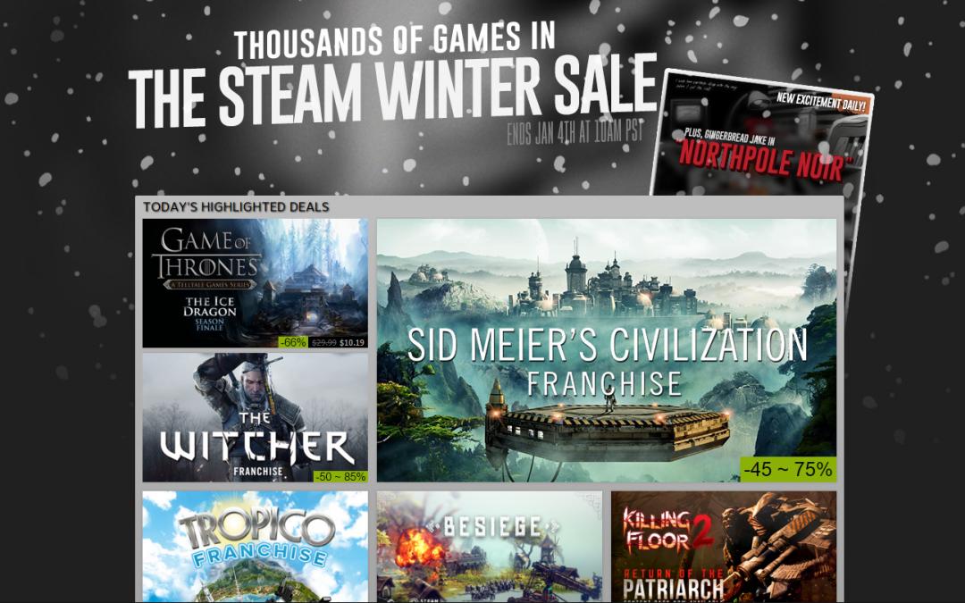 Steam Kış İndirimlerine Özel Cüzdan Kodu İndirimi