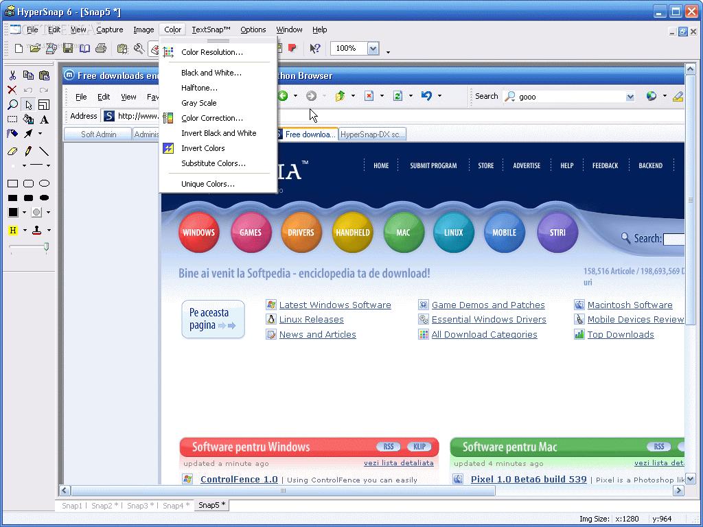 Скачать HyperSnap-DX v.7.07.06 можно отсюда (8,5 МБ, Shareware.