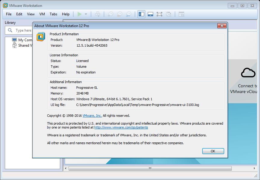 VMware Workstation Pro 12.5.1 Build 4542065 (x64) | Katılımsız