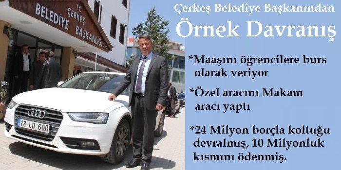 Çerkeş Belediye Başkanı Hasan Sopacı'dan örnek davranış