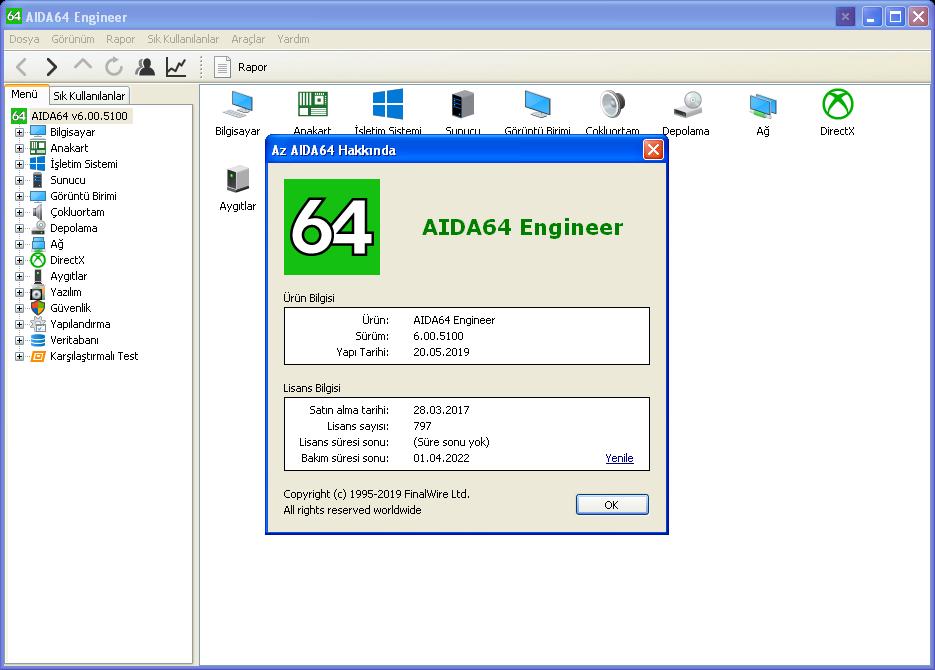 AIDA64 Engineer Edition 6.20.5300 | Katılımsız