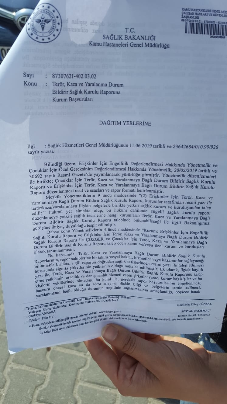7BNkmN - Sigorta şirketleri sağlık kurulu raporu talep edecekler!?