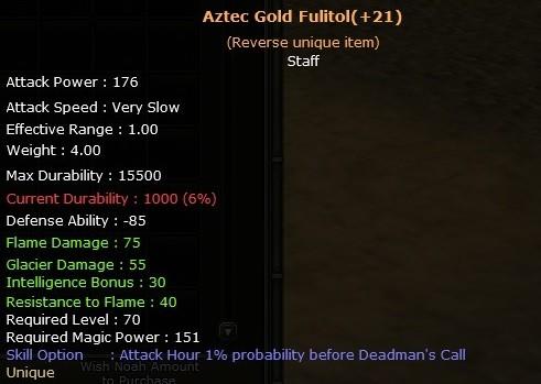 Gordion +21 Aztec Gold Fulitol