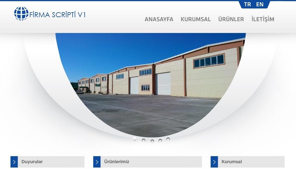 Hazır Web Sitesi | Firma Scripti 1