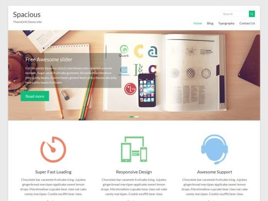 Spacious responsive, multipurpose WordPress teması