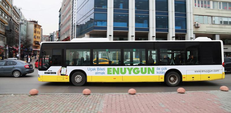 İzmir otobüs reklamları, reklam giydirme fiyatları, m2 fiyatları
