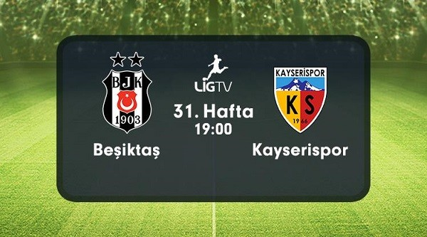 Beşiktaş – Kayserispor (30.04.2016) | HDTV 720p | Full Maç – VKRG