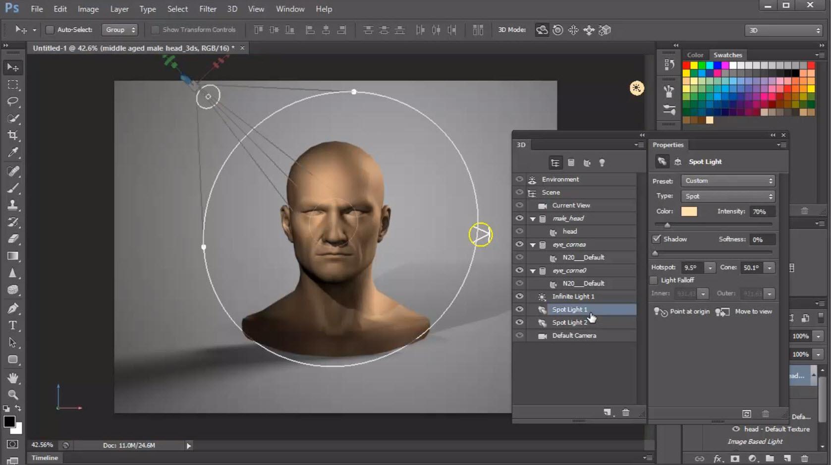 Как в фотошопе cs3 создать с картинки 3d изображение 2