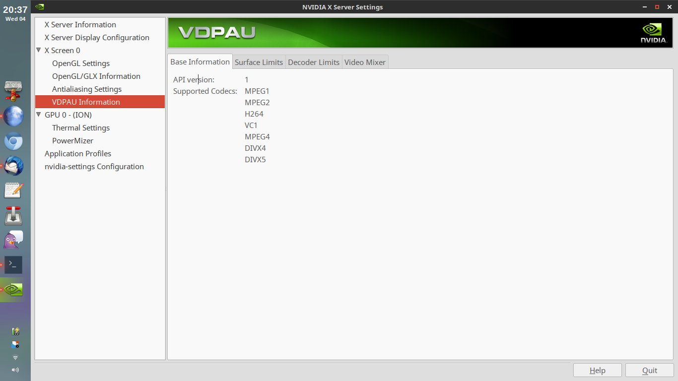 SOLVED]VDPAU and VA-API Hell On Optimus Hybrid / Multimedia