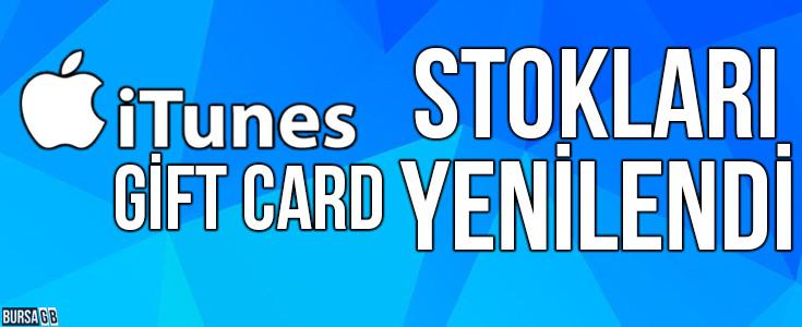 iTunes Gift Card TL Stoklarımız Yenilendi
