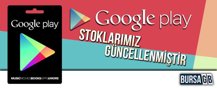 Google Play Stoklarimiz Güncellendi