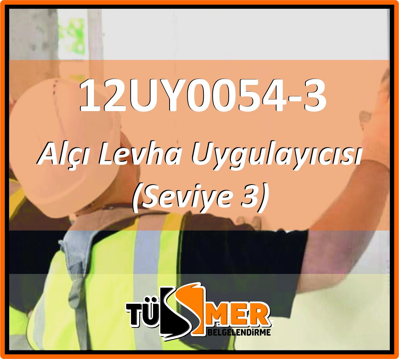 12UY0054-3 Alçı Levha Uygulayıcısı (Seviye 3)