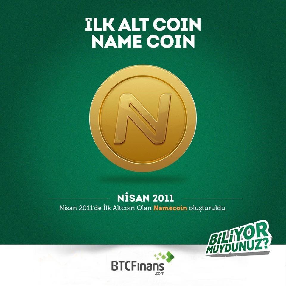 İlk Alt Coin Namecoın Oluşturuldu