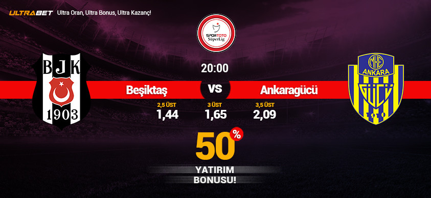 Beşiktaş - Ankaragücü Canlı Maç İzle