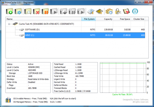 PrimoCache Desktop Edition 3.0.1 (x86/x64) Full İndir