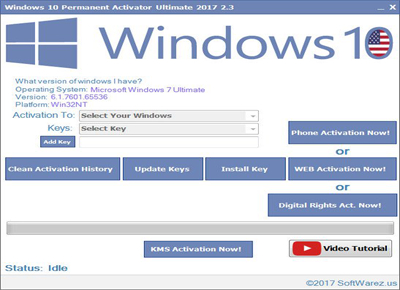 Windows 10 Permanent Activator Ultimate 2.4 Full İndir