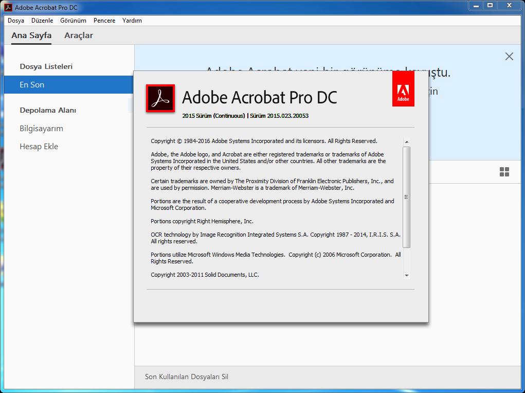 Adobe Acrobat Pro DC 2015.023.20053 Final | Katılımsız